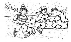 Skates coloring pages