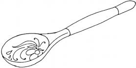 Spoon coloring pages