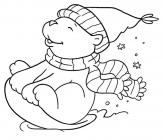 Sleigh coloring pages