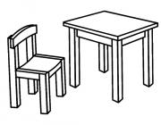Chair coloring pages