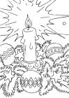 Candle coloring pages