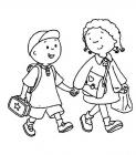 Girl and boy coloring pages