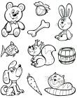 Coloring pages for 3-4 year old girls