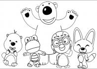 Рororo the Little penguin coloring pages