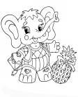 Elephant with pineapple