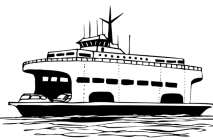 Ferry coloring pages