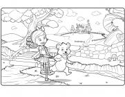 Goldie and Bear coloring pages