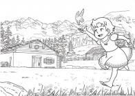 Heldi, girl of the Alps coloring pages