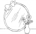 Mirror coloring pages
