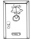 Door coloring pages
