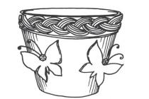 Pot coloring pages