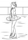 Figure skater coloring pages