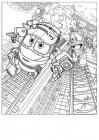Rodot trains coloring pages