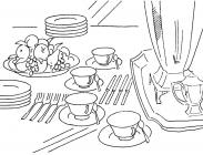 Kitchenware coloring pages