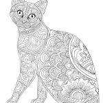 Antistress cat Coloring Pages