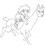 Lama Coloring Pages