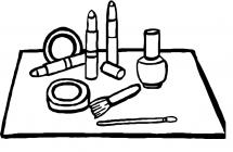 Cosmetic coloring pages