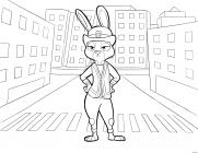Judy Hopps coloring pages