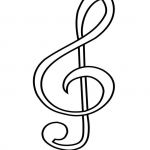 Sheet music Coloring Pages