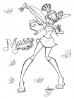 Winx Musa coloring pages