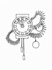New year clock coloring pages