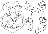 New year stencils coloring pages
