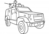 Army Vehicles coloring pages