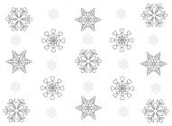 Winter patterns coloring pages