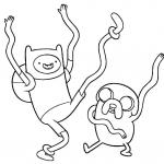 Finn & Jake Coloring Pages
