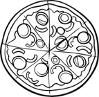 Pizza coloring pages