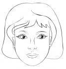 Mother portrait coloring page