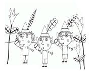 Little kingdom Ben and Holly's coloring pages