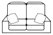 Sofa coloring pages