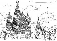 Saint-Petersburg coloring pages