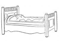 Bed coloring pages