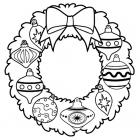 New year wreath coloring pages