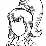 Hairstyle Coloring Pages