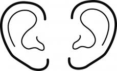 Ear coloring pages