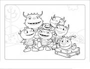 Henry Hugglemonster coloring pages