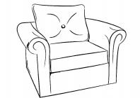 Furniture coloring pages