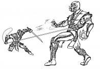 Mortal Kombat coloring pages