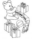 New year gift coloring pages