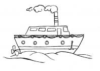 Steamship coloring pages