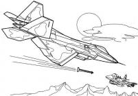 Fighter Aircraft coloring pages