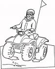ATV coloring pages