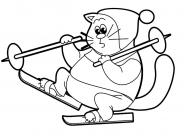 Ski coloring pages