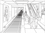 Metro coloring pages