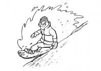 Snowboarding coloring pages