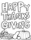 Thanksgiving Day Coloring Pages