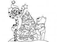 New Year's cartoon coloring pages